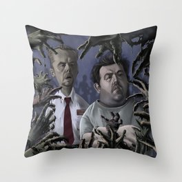 Shaun of the Dead Caricature Throw Pillow