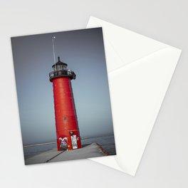 Kenosha Pierhead Light Selective Color Lake Michigan Lighthouse Wisconsin Stationery Cards