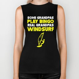 Some Grandpas Play Bingo Real Grandpas Windsurf Biker Tank