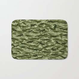 Crocodile camouflage Bath Mat