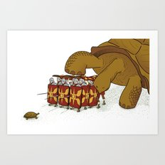 Roman turtle formation Art Print