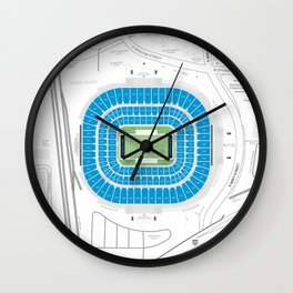 Stadium Traditions: The Panther's Lair (Bank of America Stadium) Wall Clock