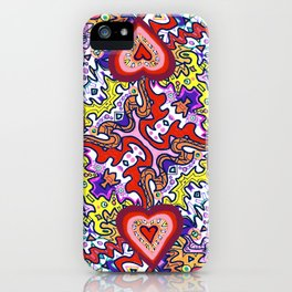 Hearts Afire iPhone Case