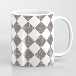 Farmhouse Checkers in Taupe and White Coffee Mug