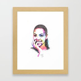 Queen B Framed Art Print