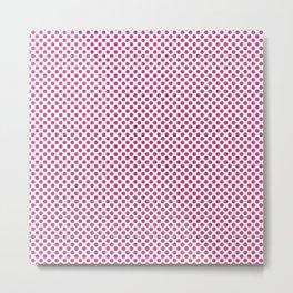 Fuchsia Purple Polka Dots Metal Print