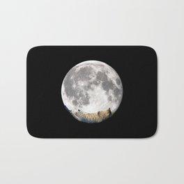 Sleeping cat with the Moon Bath Mat