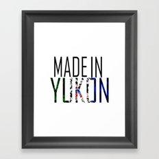 Made in Yukon Framed Art Print