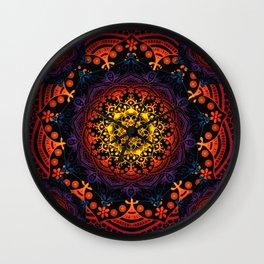 'Bohemian Summer' Multi-Coloured Mandala Wall Clock