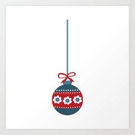 Scandinavian Christmas Ball 01 Art Print