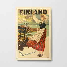 Vintage Travel Finland 2 Metal Print