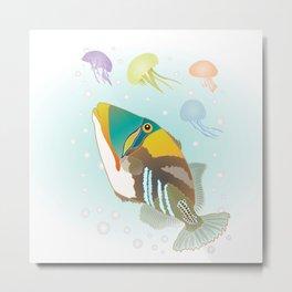 Triggerfish Metal Print