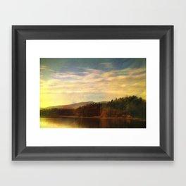 Evening On The Lake Framed Art Print