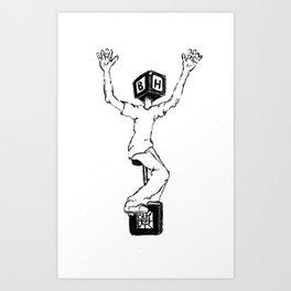 Blockhead Unicycle Triumph Art Print