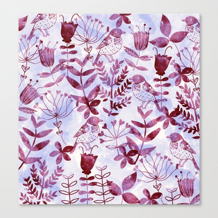 Watercolor Botanical Garden V Canvas Print
