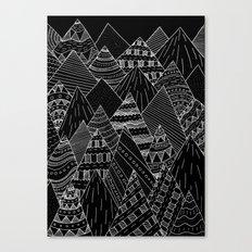 White line mounts Canvas Print