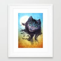 cheshire cat Framed Art Prints featuring Cheshire Cat by Diogo Verissimo