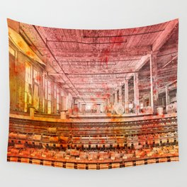 Abandoned Silk Mill - Pastel Grunge Wall Tapestry