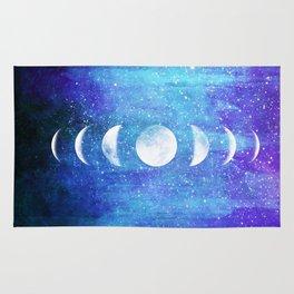 Lunar Cycle // Blue Purple Space Rug