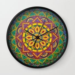 Secret Garden mandala Wall Clock