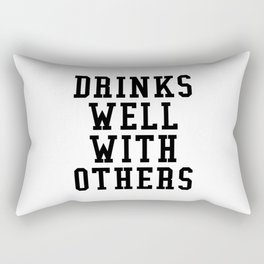 Drinks Well With Others Rectangular Pillow