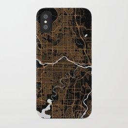 Calgary | Alberta | Canada - Minimalist City Map iPhone Case