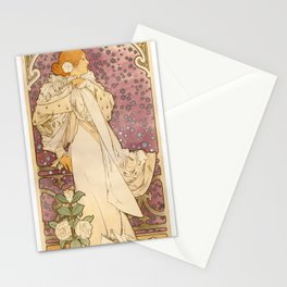 Alphonse Mucha - Poster of Sarah Bernhardt at the Theatre de la Renaissance (1894) Stationery Cards