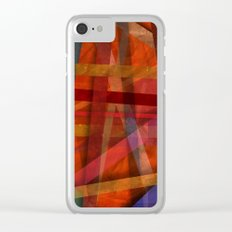 Abstract #466 Clear iPhone Case