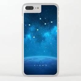 Virgo: Astrological Art Clear iPhone Case