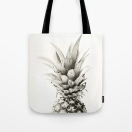 Pineapple black and white photograph Tote Bag