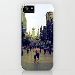 Walking Shanghai iPhone Case