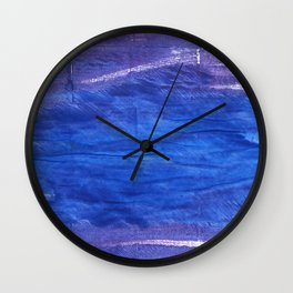 Cerulean blue Wall Clock