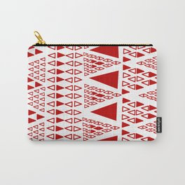 Zig Zag Pattern -  brick red Carry-All Pouch