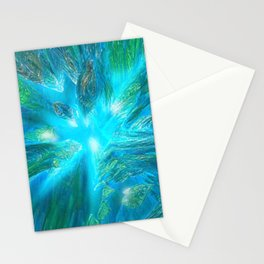 Warp in Blue Stationery Cards