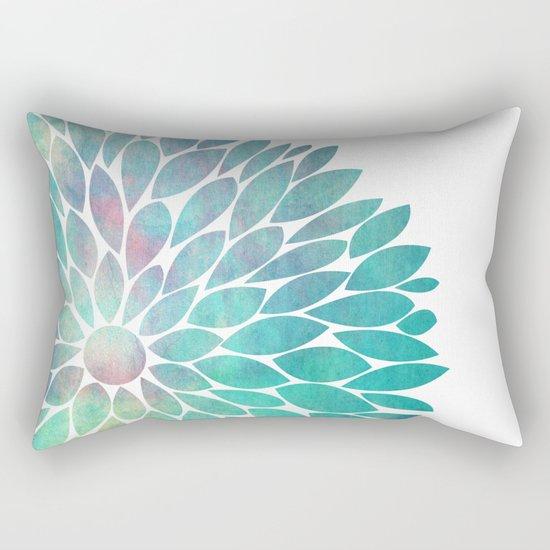 Watercolor Flower Rectangular Pillow