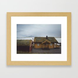 A home in the Arctic Framed Art Print