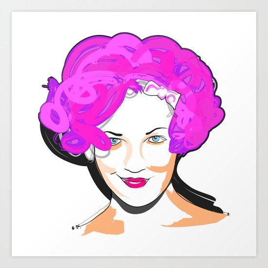 Drew Barrymore Art Print