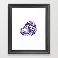 Irn Bru can pen drawing (blue) Framed Art Print