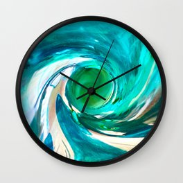 492 - Blue Plastic Bottle Abstract Wall Clock