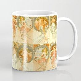 "Alphonse Mucha ""The Arts: Music, Poetry, Painting, Dance (series)"" Coffee Mug"