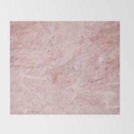 Blush Pink Marble Throw Blanket