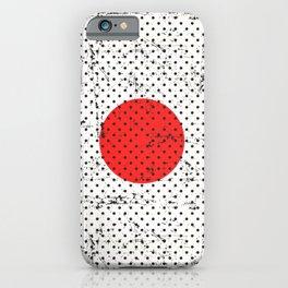 Retro Vintage Distressed Japan Flag iPhone Case