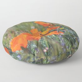 Pack of Poppies Floor Pillow