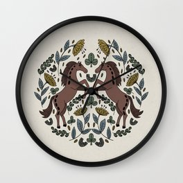The Feeling of Horses - Muted Tones Wall Clock