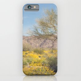 Joshua Tree Wildflowers iPhone Case