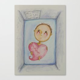 Fletcher's Broken Heart Canvas Print
