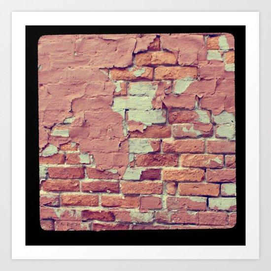 Old Bricks ttv photo Art Print