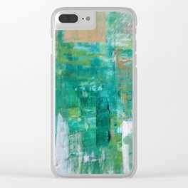 Green Symphony Clear iPhone Case