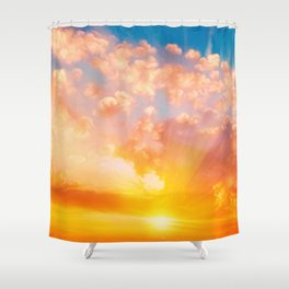Sunset feather Shower Curtain