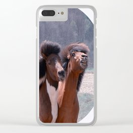 Hey babe....I'm looking good? Clear iPhone Case